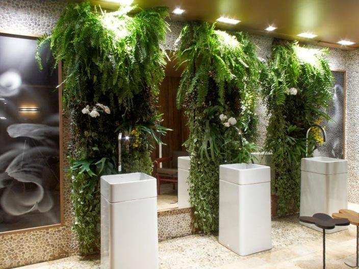 banheiro moderno jardim cuba de piso