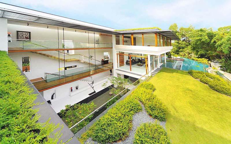 casa bonita com natureza