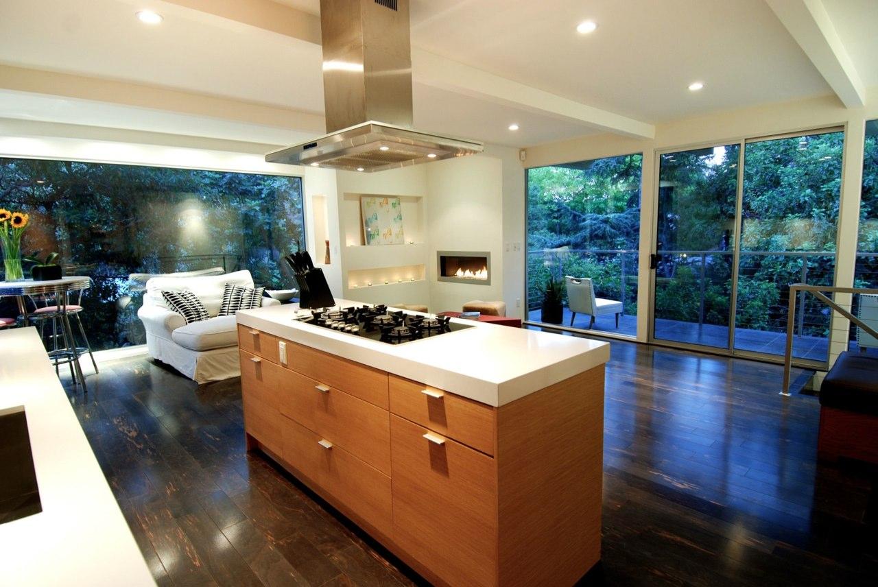 cozinha integrada sala moderna