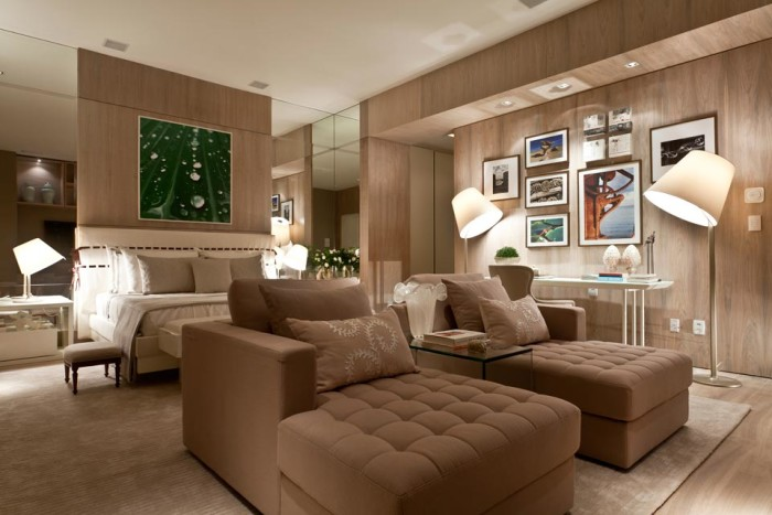 decoração sala sofa confortavel