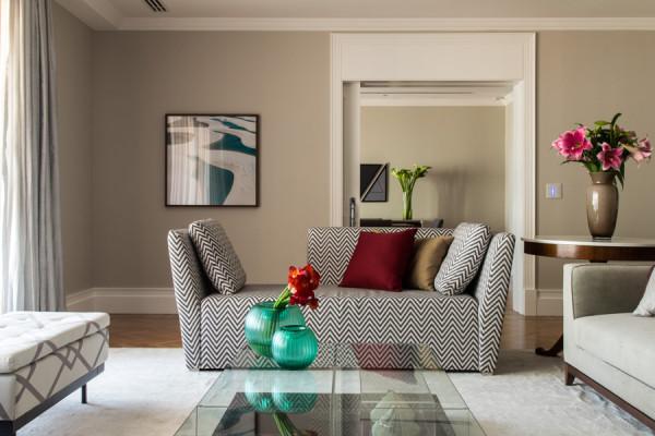 sofa estampado