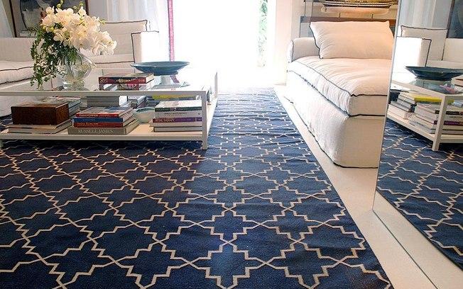 tapete kilim geometrico