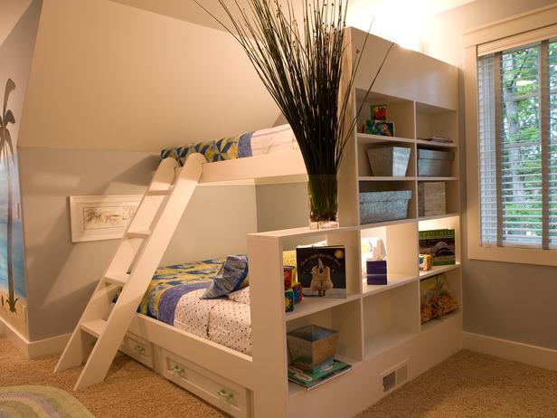 decoração quart infantil beliche cama no alto