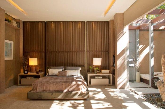 quarto bonito marrom