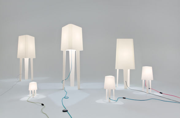 luminaria com corian