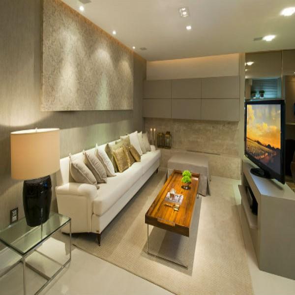 Salas decoradas pequenas e modernas salas de jantar - Paredes decoradas modernas ...