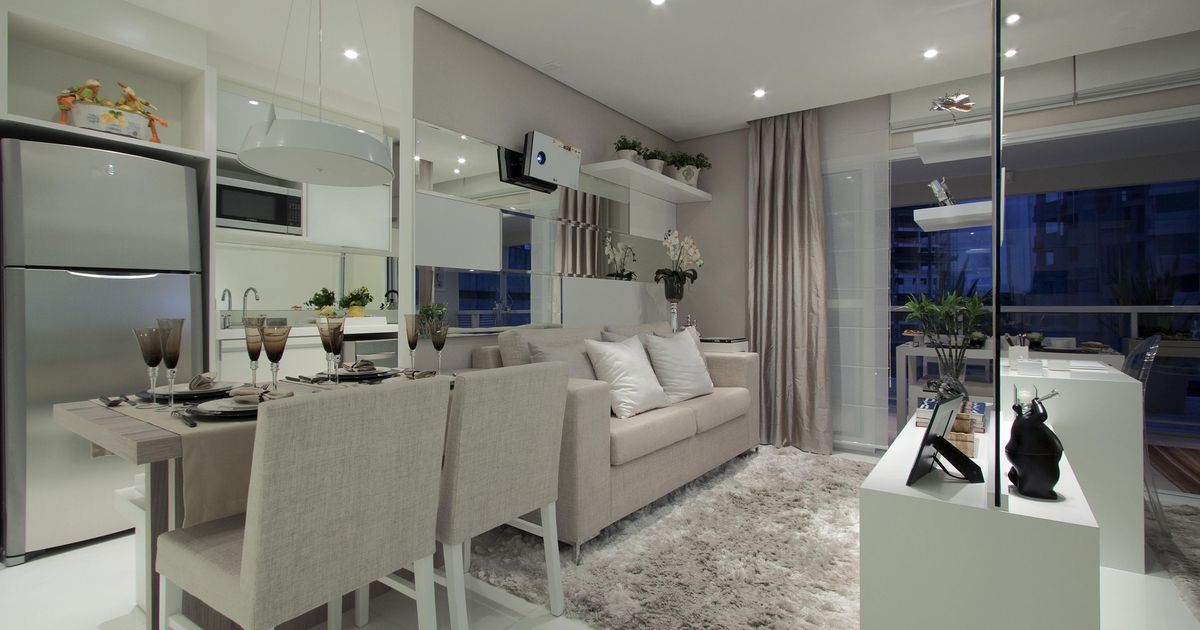 Decora o para apartamentos pequenos for Salas modernas pequenas para apartamentos
