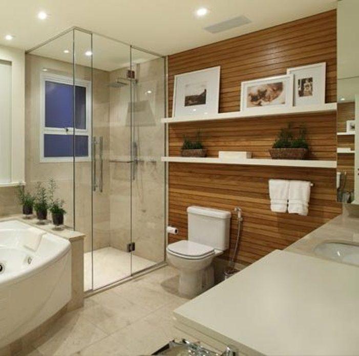 Decoração de banheiros  Acabamentos -> Decoracao Banheiro Madeira