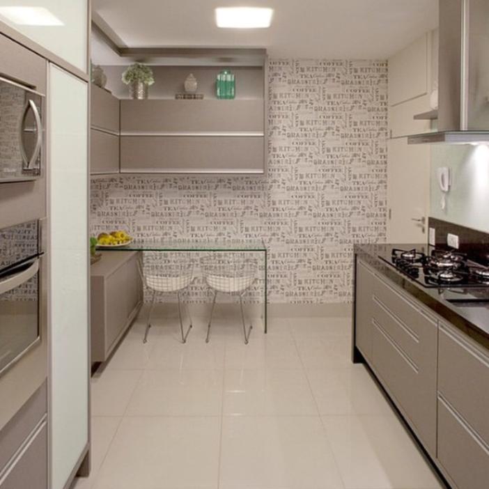 papel de parede na copa cozinha