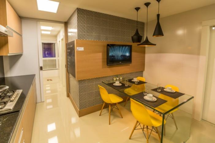 papel de parede sala de jantar apartamento