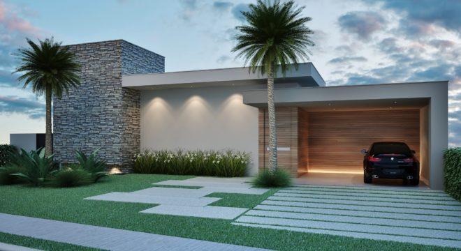 Fachadas de casas modernasarquitetura e decora o for Fachadas frontales de casas modernas