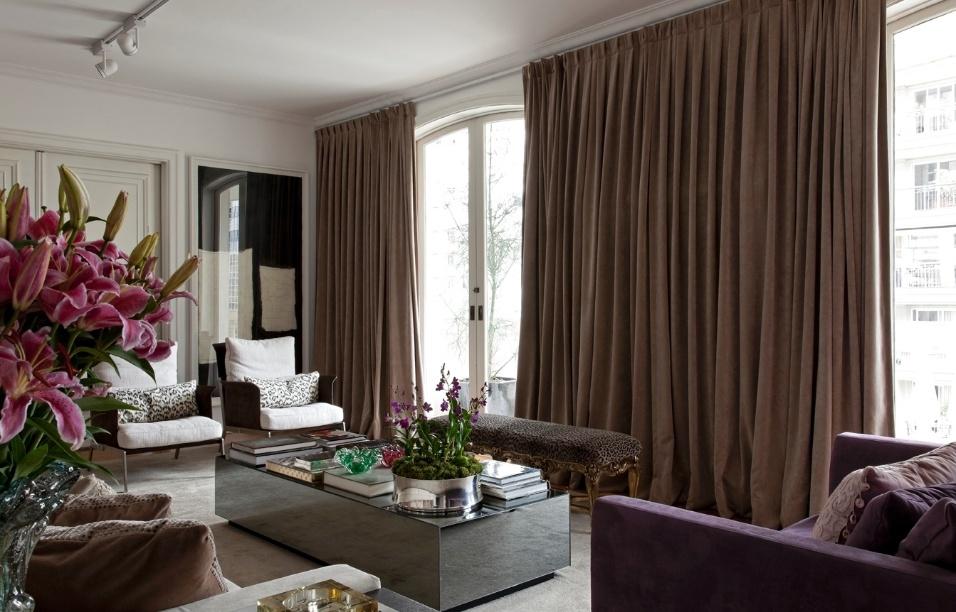 cortina de veludo decoração classica