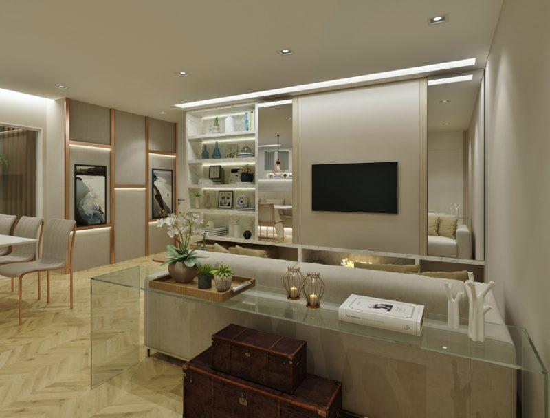 Decoração sala apartamento Indaiatuba - Arquiteta Diana Brooks