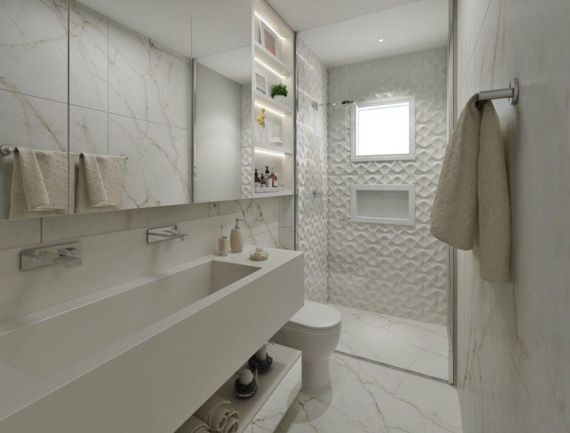banheiro suíte casal branco